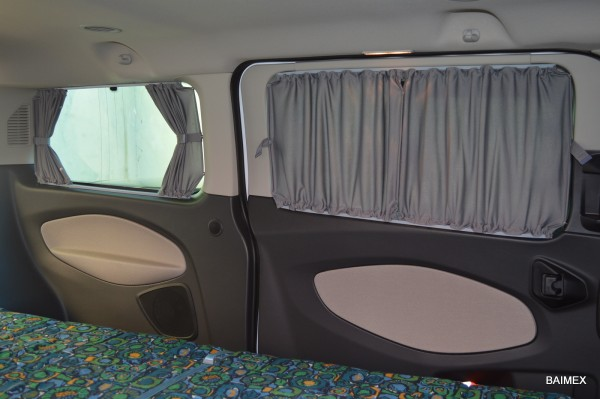 Autogardinen Ford Tourneo Custom, doppellagig