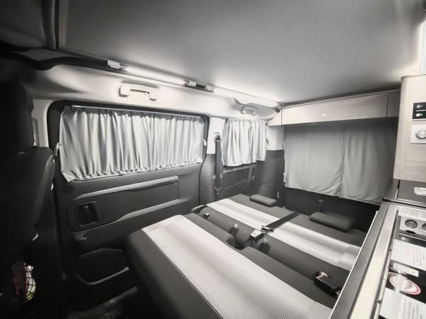 Autogardinen Toyota Proace / Peugeot Traveller, doppellagig
